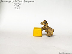 Jahvanny's Little Dog Newspaper - Barth Dunkan. (Magic Fingaz) Tags: anjing barthdunkan chien chó dog hond hund köpek origami perro pies пас пес собака หมา 개 犬 狗