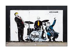 Street Art (Loretto), East London, England. (Joseph O'Malley64) Tags: loretto donaldtrump vladimirputin kimjongun dodgydealers streetartist streetart urbanart publicart freeart graffiti eastlondon eastend london england uk britain british greatbritain art artist artistry artwork mural muralist wallmural hordings soontobedemolished woodenfencingpanels pavement stencils stencilwork politicians politics presidents worldleaders incompetent incompetence bullies wankers psychos band music urban urbanlandscape aerosol cans spray paint fujix x100t accuracyprecision microphone drumkit electricguitar