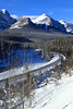 Morant's curve (fred.colbourne) Tags: morantscurve traintracks banffnationalpark alberta snow river mountains trees