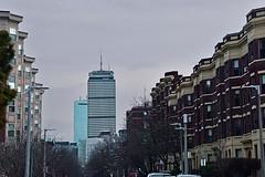 Peterborough Street (Pru) (AntyDiluvian) Tags: boston massachusetts fenway street peterboroughstreet pru prudentialtower hancocktower