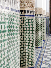 In the courtyard (Shahrazad26) Tags: darsisaid marrakech marokko morocco maroc zellig zellij paleis palace palais palau qsar architectuur architecture