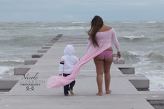 Feldman Maternity 2018 (Nicole Elizabeth Photography) Tags: maternity pink gown wind beautiful beach sand longboat