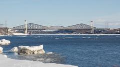 Ponts de Québec et Laporte, Canada - 4824 (rivai56) Tags: villedequébec québec canada ca pontsdequébecetlaporte sonyphotographing winter bridge hiver glace snow neige pont laporte pontsdequébecetlaporteenhiver fleuvesaintlaurent quebecandlaportebridgesinwinter stlawrenceriver