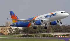 N240NY LMML 25-02-2018 (Burmarrad (Mark) Camenzuli Thank you for the 10.8) Tags: airline allegiant air aircraft airbus a320214 registration n240ny cn 1208 lmml 25022018