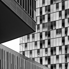 Geometry (Leipzig_trifft_Wien) Tags: cittadelsole rom roma lazio it triangle geometry structure pattern texture architecture building urban city manmade monochrome black white blackandwhite bnw bwphoto conrast grey composition square facade windows travel abstract