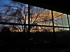 Sunset February 24, 2018 (starmist1) Tags: sunset february242018 dusk willow willowtree branches limbs bare winter february