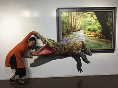 crocodile me (olive witch) Tags: 2018 abeerhoque animal chennai day india indoors jan18 january madras me museum