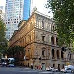 Sydney. In Bridge Street. The Lands Department built from 1877. The sandstone facade is adorned with Australian explorers from Mitchell and Oxley to Cunningham etc thumbnail