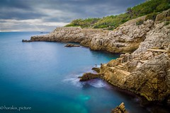 land over sea (harakis picture) Tags: france capdantibes sea blue clouds greatphotographers contactgroups photothebestofmimamorsgroups