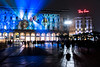 Milan's Piazza del Duomo in January (Phototravelography) Tags: italia italien italy lombardei lombardia lombardy mailand milano piazzadelduomo rayban winter advertising citylife colourful dark evening fog light lights milan mist night people projections reflections shadows