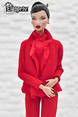 Lovely Kyori in Red Fashions by ELENPRIV (elenpriv) Tags: kyori sato red blooded woman fashion doll integrity toys jason wu elenpriv elena peredreeva handmade clothes fr2 12inch