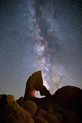 Boot Arch Milky Way (optimalfocusphotography) Tags: night usa arch landscape lightpainting nature alabamahills milkyway nightphotography stars inyocounty longexposure california easternsierra