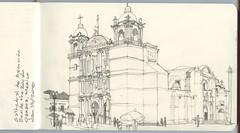 Oaxaca, Mexico - Cathedral de Ascuncion (Matthew-1) Tags: oaxaca mexico cathedraldeascuncion offthezocalo sketch