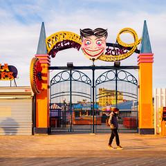 Off-season 1 (deepaqua) Tags: brooklyn lunapark amusementpark offseason winter coneyisland gate