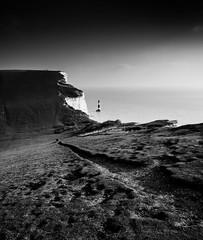 No Way Out (Lloyd Austin) Tags: nikon d7200 sigma1750mm landscape iconic lighthouse chalk cliffs englishchannel coast coastal coastline shoreline ocean seascape sea nationalpark southdowns bnw blackwhite bw monochrome mono england eastsussex beachyhead nowayout