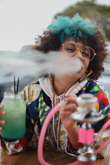 Exhale (Rushay) Tags: afro fashion hair hookah mexican pipe portelizabeth portrait sistaeyerie smoke smoker smoking southafrica style