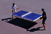 Ping-Pong in a leisure square (chrisk8800) Tags: pingpong square table lines people players barcelona