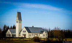 Selfosskirkja Church (Private Guide Photography) Tags: iceland selfoss south church building house river