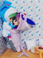 Be my valentine ♥ (Pliash) Tags: valentines day valentine cute kawaii couple dal doll groove family isul pullip duke cinnamoroll 10th anniversary espeon sylveon shiny pokemon clothes