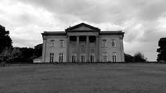 Mansion House, Roundhay Park, Leeds (CEWWtyke) Tags: mansion house park portico roundhay parkland leeds yorkshire uk england britain greatbritain lawn grass sky architecture neoclassical georgian building monochrome bnw bw blackandwhite black white