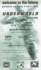 flyer-Welcome-to-the-future-2-4-1994_Underworld (cor333) Tags: paradiso concert concertphoto concertphotography concertfoto concertfotografie jabaaij amsterdam flyer welcometothefuture underworld