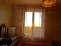 2018-02-22 sunset (2)window (april-mo) Tags: sunset coucherdesoleil nord france villerscampeau trees baretrees orange branches window
