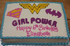 superhero (3) (backhomebakerytx) Tags: cake birthday kid superhero hero batgirl supergirl wonder woman 6th backhomebakery