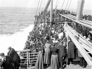 A Viagem de Navio entre a Itália e o Brasil.
