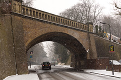 Railway bridge   CP Snow   Feb 2018-47 (Paul Dykes) Tags: crystalpalace uksnow londonsnow london england uk gb unitedkingdom overground bridge