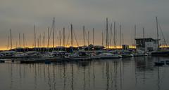 The marina in January (frankmh) Tags: boat marina january winter helsingborg sunset skåne sweden outdoor