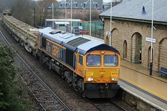 GBRF 66776 - Mansfield Woodhouse (the mother '66' 66001) Tags: gbrf class66 mansfield mansfieldwoodhouse robinhoodline railways rail nottinghamshire doncaster toton 6m73