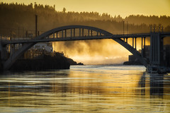 Willamette Falls (Joshua Johnston Photography) Tags: willamettefalls oregoncity oregon pacificnorthwest pnw waterfall bridge willametteriver sonya7ii canonef70200f4lisusm joshuajohnston sunset
