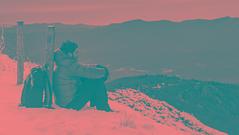 Silence... (ChusPS) Tags: bandw blackandwhite selftimer selfie montseny barcelona catalunya mediterrani mediterranean mediterraneo views mountain snow manfrotto nikkor nikon d7100 me relax breathing silence winter hivern invierno alone summit hiking