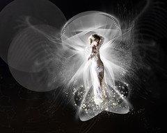 Asariel (margotd2) Tags: woman lady angel wings fractals white stars space delicate soft romantic model halo