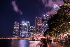 SINGAPORE BY NIGHT (seanknds) Tags: singapore city night architecture sky clouds light color travel wanderlust adeventure summer memories amazing explore skyscraper water lifestyle