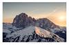 Gruppo del Sassolungo, Alto Adige, Italy (Nils Leonhardt) Tags: schnee snow berg mountain dolomites sonnenuntergang landschaft landscape himmel sky nikon nikondeutschland nikond810 sigmalens sigmaart sigma24105mm altoadige valgardena italy sassolungo südtirol nature outdoor travel sunset sunlight