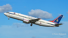 HS-CMV  Boeing 737-4Z6 - Thai Government (Peter Beljaards) Tags: hscmv boeing7374z6 thaigovernment aviationphotography jetliner schiphol amsterdam nikon flickrexploreme