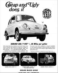 1969 Subaru 360 Ad (aldenjewell) Tags: 1969 subaru 360 sport van truck ad malcolm bricklin