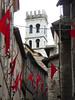 Assisi (Bogdan J.S.) Tags: europa europe italy italia włochy assisi asyż architektura architecture miasto town mury walls flagi flags budynek building wieża tower