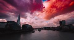 "6,462 ""both alike in dignity"" (Panda1339) Tags: london cinematic cloud walkietalkie colourful towerbridge shard ldn light extremelycolourful"
