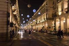 Via Po, Torino - Italy (Marconerix) Tags: torino italia italy turin downtown centro street urban night bynight lucidartista lights christmas