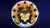 Bildschichten Fruechteteller 00r (wos---art) Tags: früchteteller obstteller geschnittenefrüchte obst bildschichten früchte inliebe füresther orangen kiwi banane birne himbeeren ananas weintrauben apfel