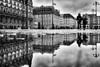 puddle reflection (d26b73) Tags: noiretblanc urbanarte streetphoto bw monochrome blackandwhite hamburg deutschland de