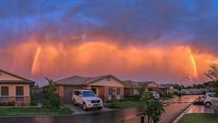 Skies after storm ... (Beckett_1066) Tags: skies storm hawkesbury redbank northrichmond newsouthwales australia au rainbow