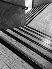 stepping down (RobertsNL) Tags: 7daysofshooting week34 multiples blackandwhitewednesday