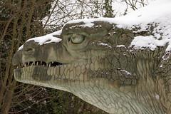 Megalosaurus | CP Snow | Feb 2018-39 (Paul Dykes) Tags: london england unitedkingdom gb crystalpalace uk snow uksnow londonsnow