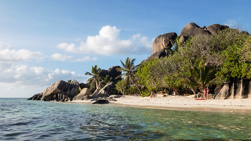 Beautiful beach Anse Union on the island la digue, Seychelles
