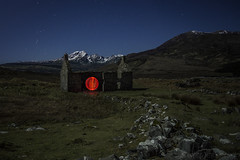 If on a Winter's Night a Traveller (SkyeWeasel) Tags: scotland skye landscape night winter mountains blaven blabheinn stars orion orb lightorb mysterious enigmatic ruin