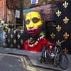 Dale Grimshaw / 'Pride & Prejudice' (urbanshutterbug.co.uk) Tags: london shoreditch urbanart mural wall wallart uk gb unitedkingdom greatbritain england colour color colours portrait portraiture vibrant tribal city street graffiti streetart graffitiart paint painting spraypaint fleurdelis bicycle