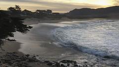 Carmel River Beach/sunrise (LOLO Italiana) Tags: carmelriverbeach beach sand hightide surf sunrise pacificocean seascape nature carmel ca